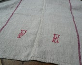 antique THROW wedding gift adorable coverlet FADED OLDROSE very huge
