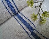antique hemp linen 6.33y ROLL SWEDISH BLUE curtain roman blind handlloomed yardage