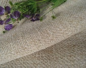 french antique hemp linen 9.946y creamy Natural heavy and rural runner rug upholstery 24.47