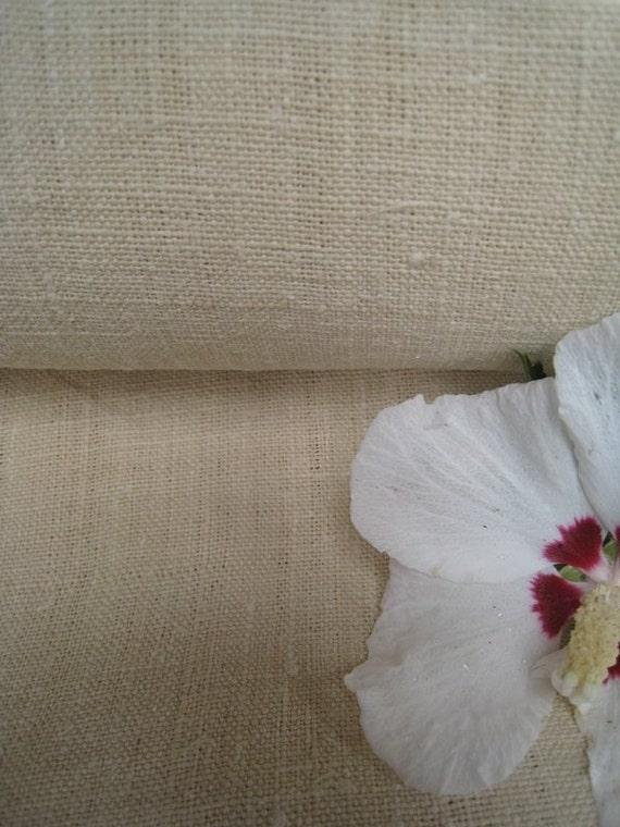 antique handloomed linen roll 14.20 y elegant beige color bedding curtain 23.622