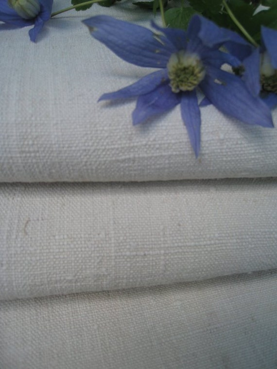 antique handloomed linen roll soft 9.837y pale natural  color wedding decor