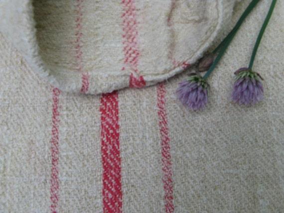antique grain sack cushion tablerunner upholstery ROSA WOW wedding decor
