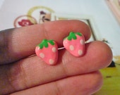 SALE - Strawberry Stud Earrings