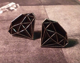 SALE - Black Diamond Stud Earrings