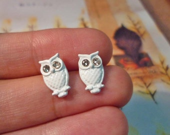 Mini Owl Stud Earrings