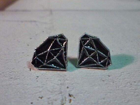 Mini Black Diamond Stud Earrings
