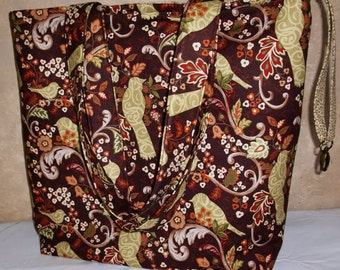 10% OFF SALE!   BoKa Beach Baby Bag in Earth Tones With Birds of Peace and Love