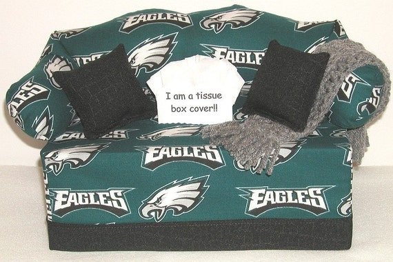 Tissue Box Couch Cover Philadelphia Eagles By