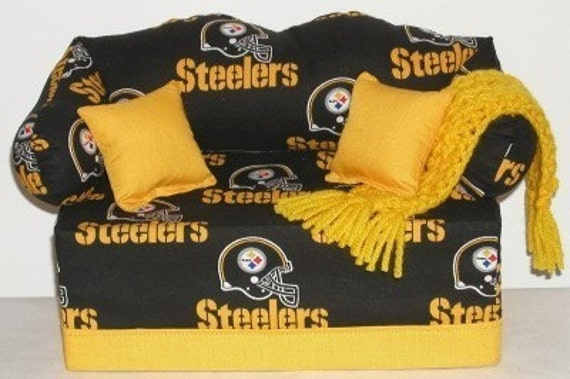 Handmade Tissue Box Couch Cover Pittsburgh Steelers