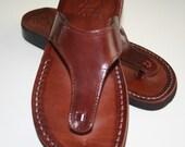 Plain Wave Leather Sandals