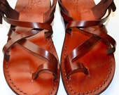 Brown Roxy Leather Sandals