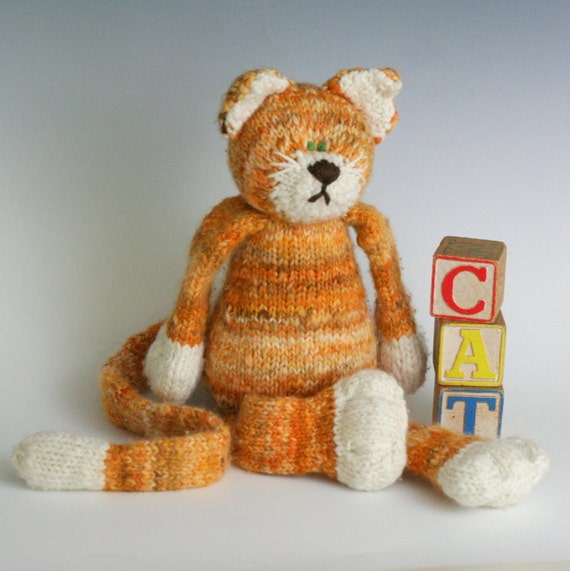 C is for Cat - PDF Knitting Pattern