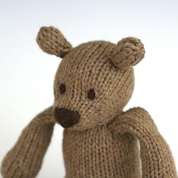 Rye Bear - Hand Knit Organic Cotton Toy Teddy