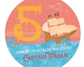 Personalized Pirate Party Goody Bag Label