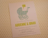 Let's Roll Couples Baby Shower Invitation