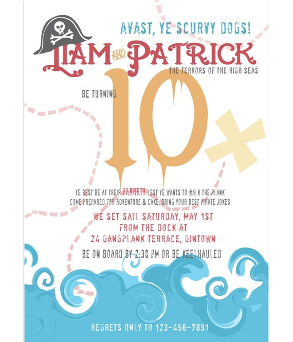 Shiver Me Timbers, A Pirate Party Invitation