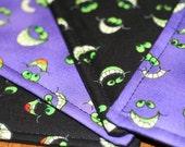 Halloween Quilted Coasters - Googlie Eyes - Purple (set of 4)