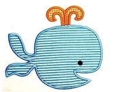 Machine Embroidery Design Whale INSTANT DOWNLOAD