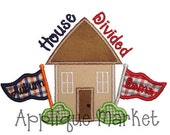 Machine Embroidery Design Applique House Divided INSTANT DOWNLOAD