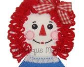 Machine Embroidery Design Applique Annie Doll INSTANT DOWNLOAD
