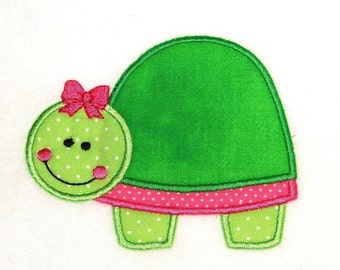 Machine Embroidery Applique Design Turtle INSTANT DOWNLOAD