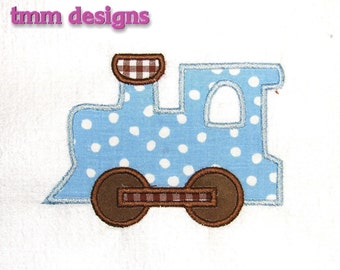 Machine Embroidery Applique Design Train INSTANT DOWNLOAD