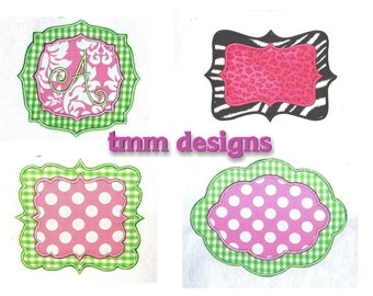 Machine Embroidery Applique Design Frame Set INSTANT DOWNLOAD