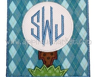 Machine Embroidery Design Applique Golf Patch INSTANT DOWNLOAD