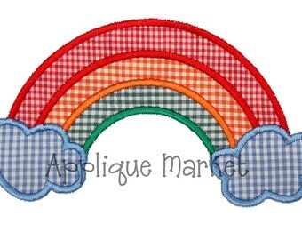 Machine Embroidery Design Applique Rainbow INSTANT DOWNLOAD