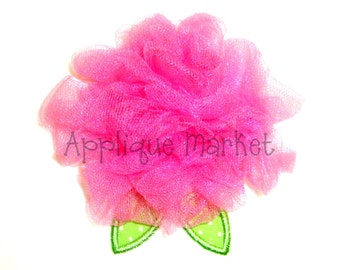 Machine Embroidery Design Applique Tulle Flower In the Hoop INSTANT DOWNLOAD