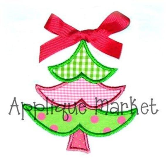 Machine Embroidery Design Applique Christmas Tree INSTANT