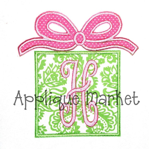 Items similar to machine embroidery design applique gift
