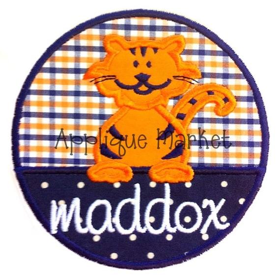 Machine Embroidery Design Applique Tiger Circle INSTANT DOWNLOAD