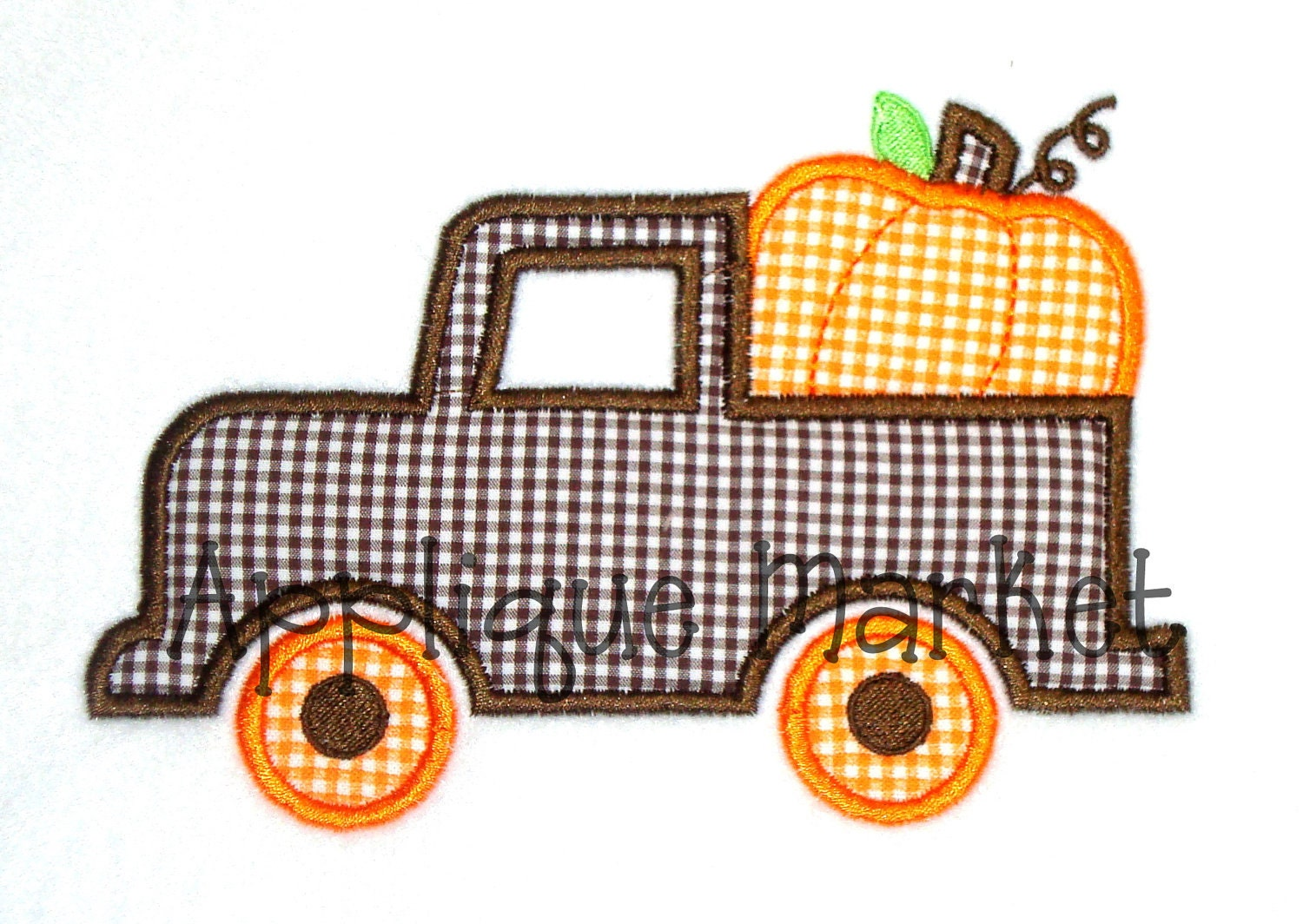 Machine embroidery design applique truck with by tmmdesigns
