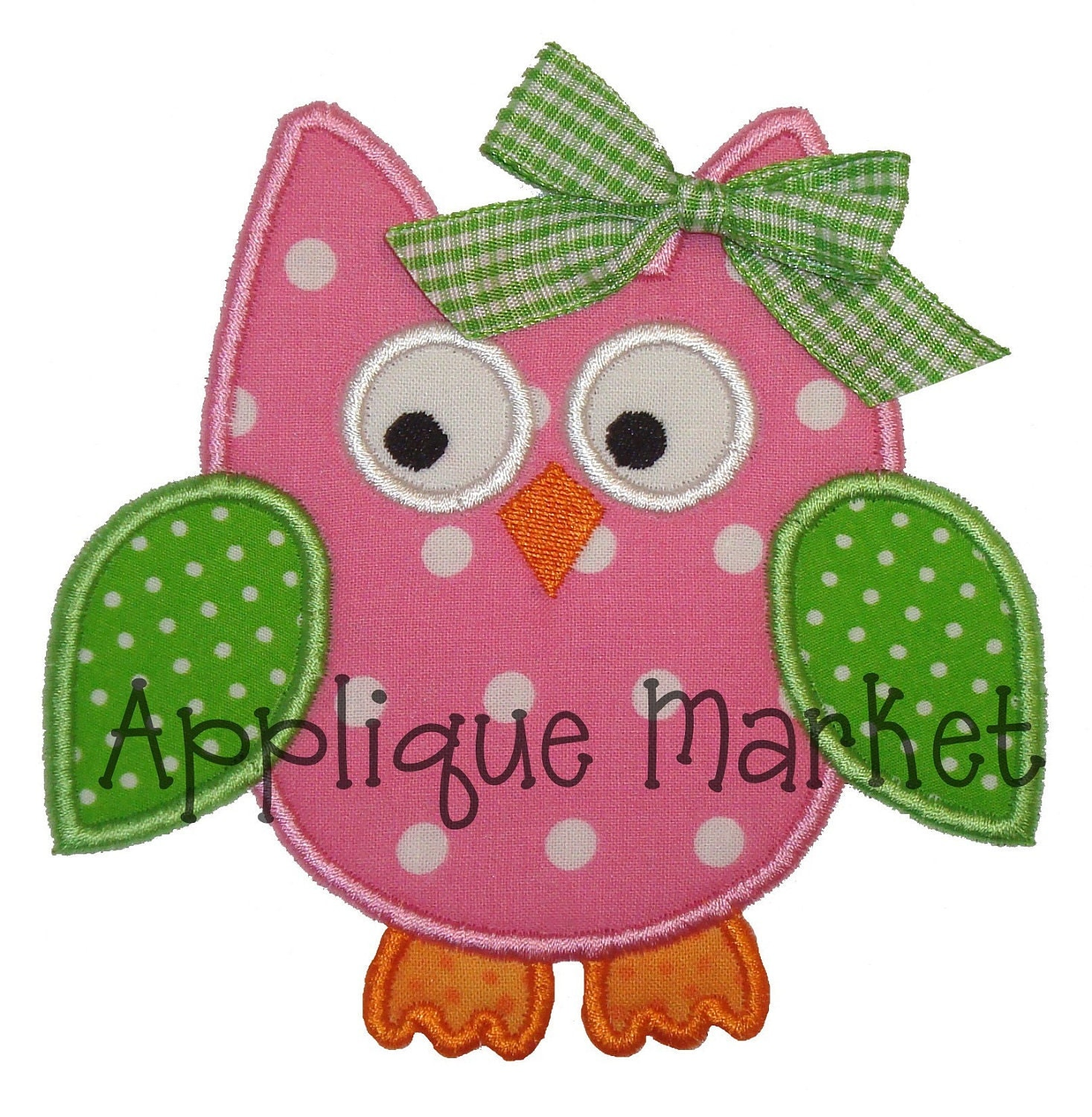 Machine Embroidery Design Applique Owl 4 Sizes INSTANT