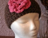 RESERVE LISTING FOR STELLAR225 Flora Edition Cap - Chocolate Brown and Pink