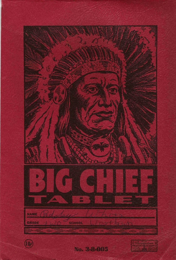 Big Chief Tablet Cover Only Early 1950s Antique Vintage