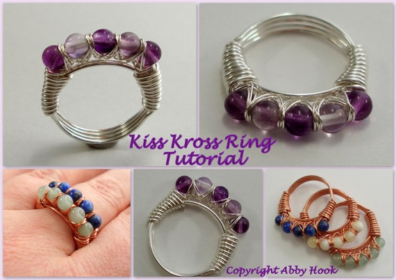 Kiss Kross Ring, Wire Jewelry Tutorial, PDF File instant download