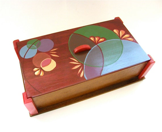 SUPER SALE Jewelry Box, Keepsake Box, Hand Painted