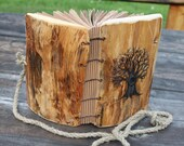 Rustic Wedding Guest Book Wood with Tree of life