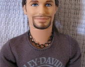 Black Curb Chain Necklace Guy Doll Jewelry