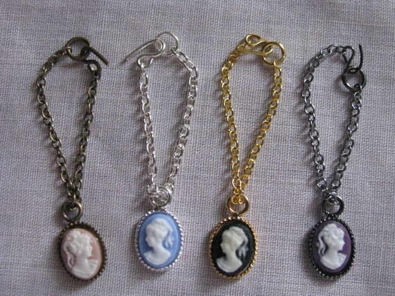 New Made to Order Cameo Necklace Fashion Doll Jewelry 4 Chain Choices 13 Colors 11 1/2 - 12 inch Fashion dolls 1/6th Scale