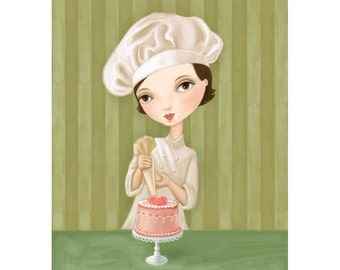 The Little Pastry Chef-print