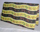 Floral Fabric Checkbook Cover with Debit Card Pocket