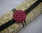Straight Needle Case holds 40 pairs of straight needles- Handpainted fabric - Free Shipping within the US