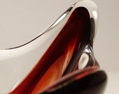 Mid-Century LUX Glass Dish - Blood Red to Clear