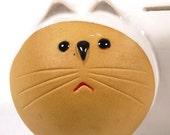 Mod and Hip Pottery Cat Bank 1960's Japan