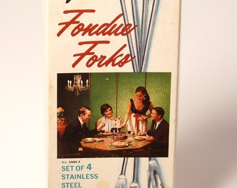 Vintage Rosewood Fondue Forks by Vollrath Japan
