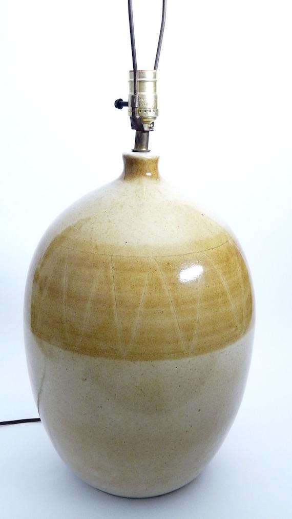 Mid-Century Danish Modern Pottery Lamp