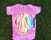 Phish Phans Batik Rainbow Fish Onesie CUSTOM MADE